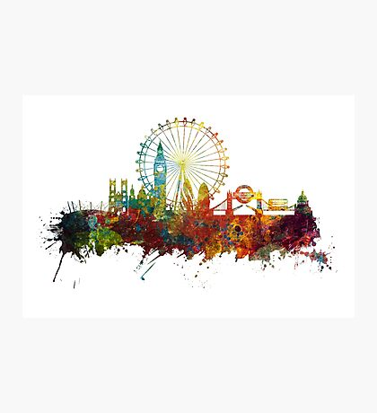 London Skyline England Photographic Print