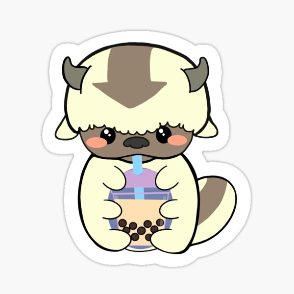 Appa Sipping Boba Sticker