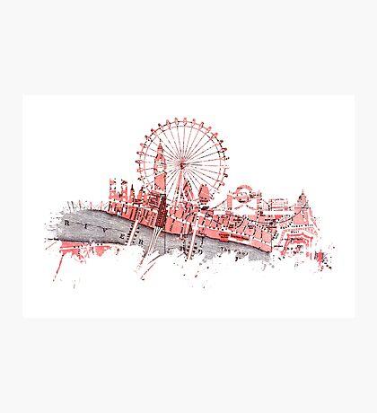 London skyline maps Photographic Print
