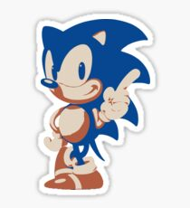 Minimalist Sonic 4 Sticker
