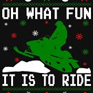 Snowmobile Ugly Christmas by EthosWear