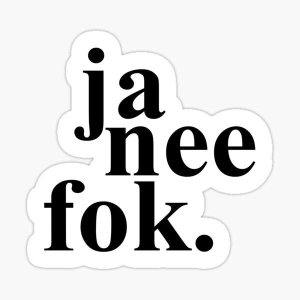 Ja Nee Fok Sticker