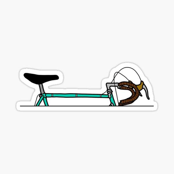 Section supérieure de vélo vintage Celeste Sticker