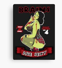 Brains are Sexy Canvas Print