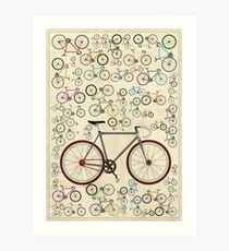 Love Fixie Road Bike Art Print