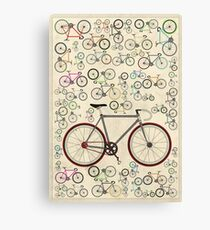 Love Fixie Road Bike Canvas Print
