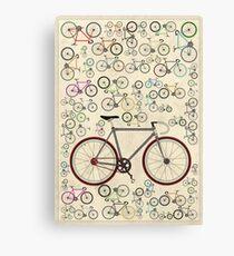 Love Fixie Road Bike Canvas Print