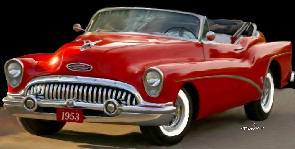 1953 Buick Convertible  by Tom Sachse