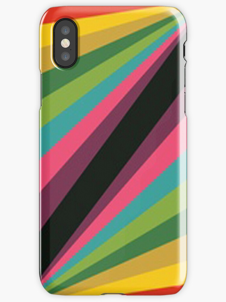Rainbow Lines- IPhone case by ksully