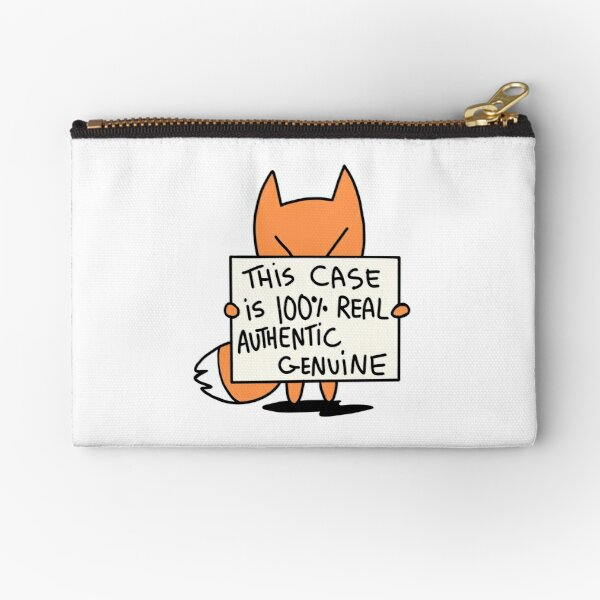 100% Real Authentic Genuine Zipper Pouch