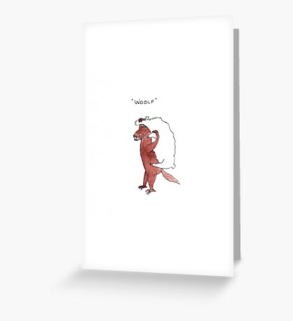 Woolf Greeting Card