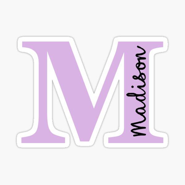 M Madison initial Sticker