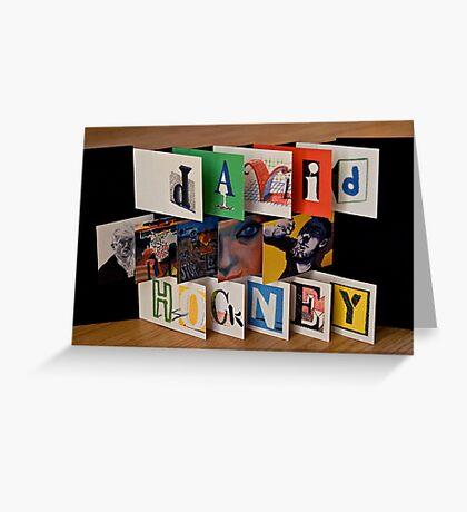 David Hockney - Artist's Book Greeting Card