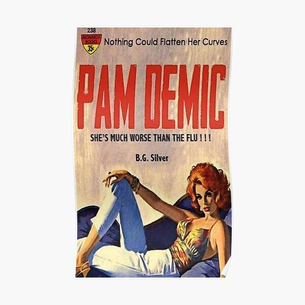 Pan Demic Pulp Paperback Novel Poster