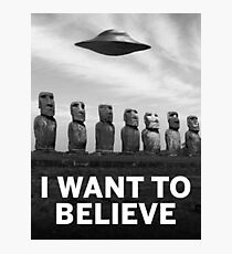Want2Believe (Moai) Photographic Print