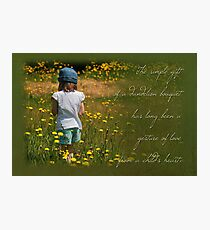 Dandelion Bouquet (Card) Photographic Print