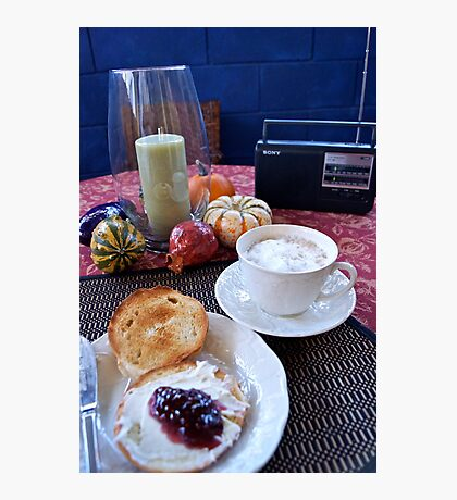 Sunday Morning Cuban Coffee & A Bagel! Photographic Print