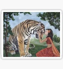 """Reverence"" Fantasy Tiger Art Sticker"