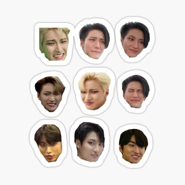 visages drôles de seonghwa Sticker