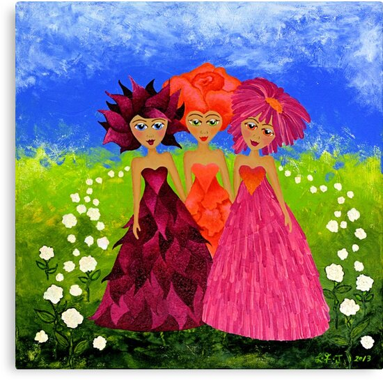 Flower Sisters by Lisafrancesjudd