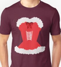 red santa corset christmas corset Mrs Claus Unisex T-Shirt