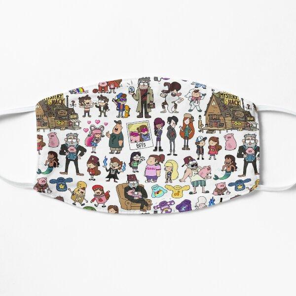 Cute Gravity Falls Doodle Flat Mask