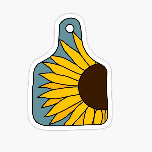 Sunflower Ear Tag Sticker