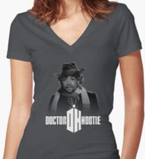 Doctor Hootie Women's Fitted V-Neck T-Shirt