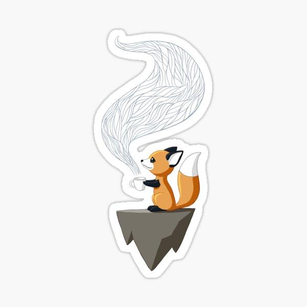 Fox Tea Sticker