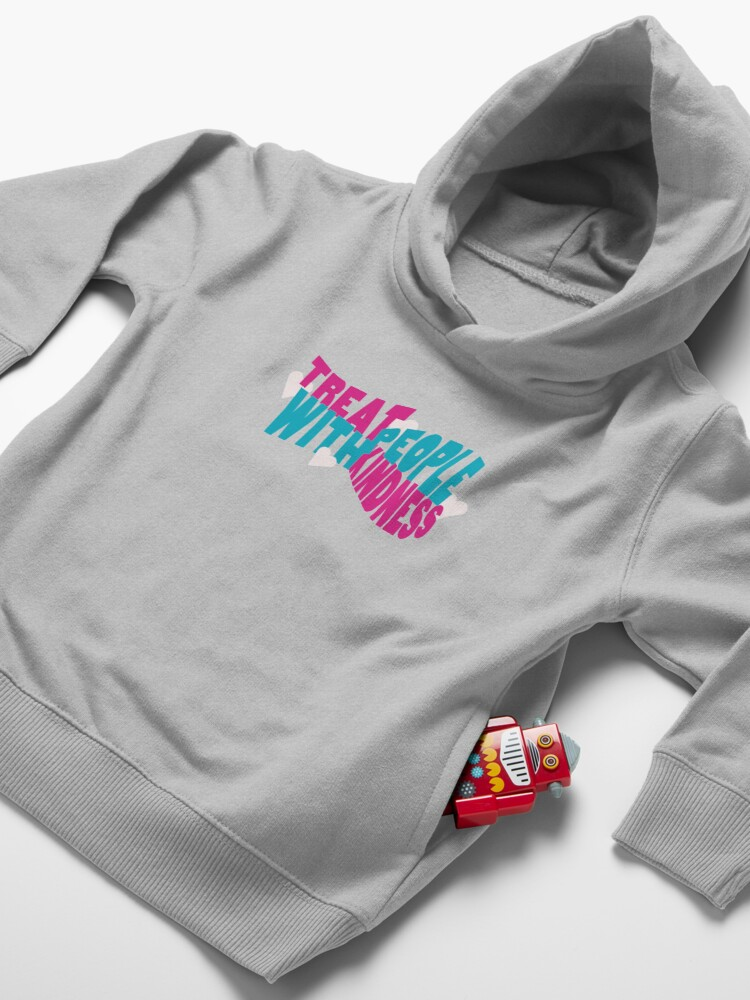 Alternate view of Treat People With Kindness  Toddler Pullover Hoodie