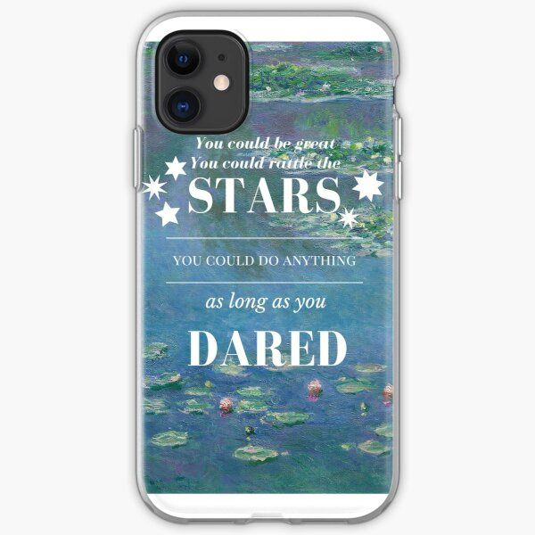 Rattle the Stars- Sarah J Maas, Throne of Glass- Waterlilies iPhone Soft Case