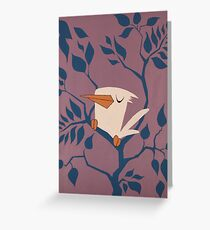 White and Purple.  Greeting Card