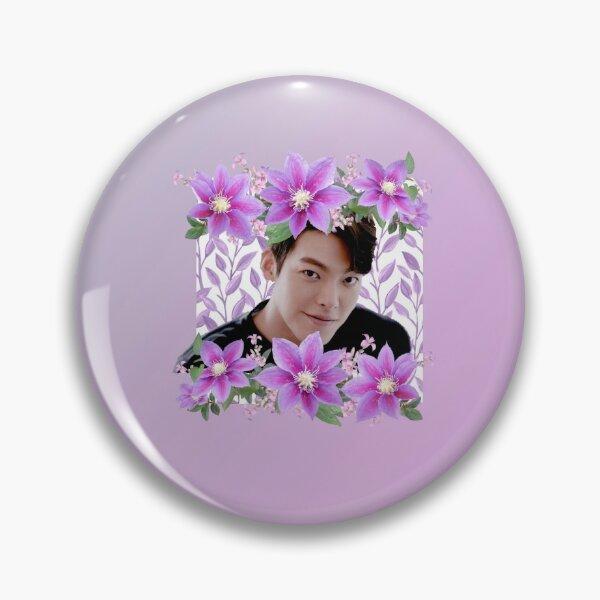 [Kim Woo Bin + Purple Flowers] Pin