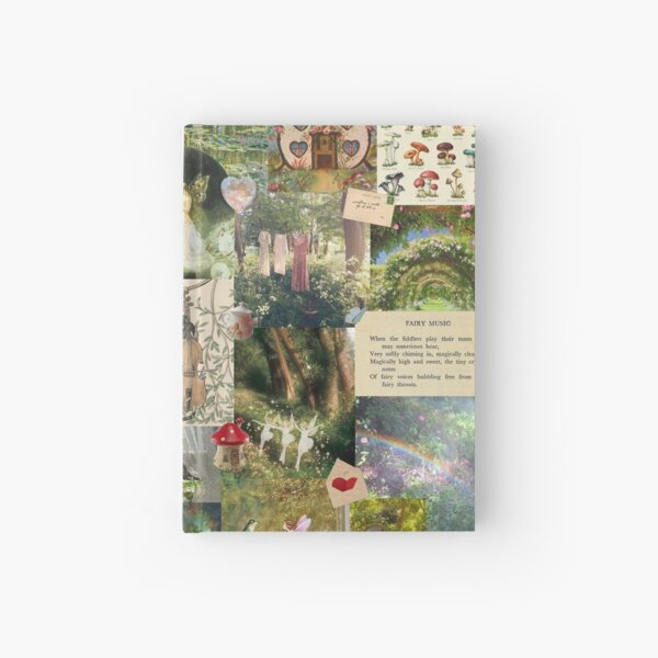 Cottage Core Collage Hardcover Journal