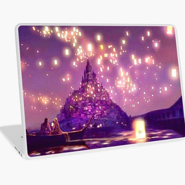 Glowing Castle Print Laptop Skin