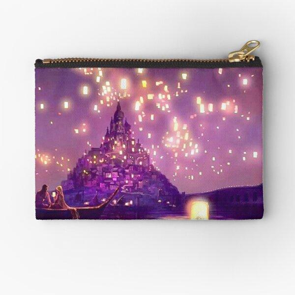 Glowing Castle Print Zipper Pouch