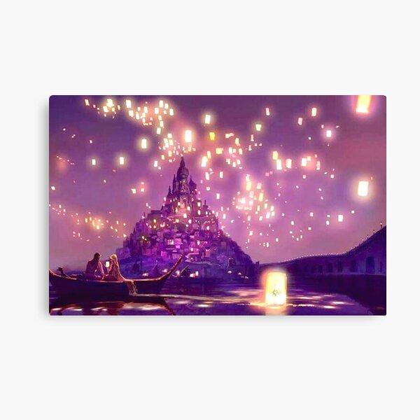 Glowing Castle Print Canvas Print
