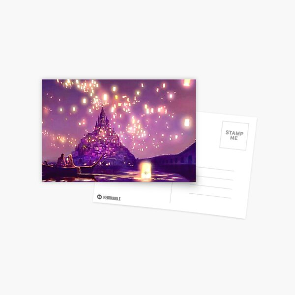 Glowing Castle Print Postcard