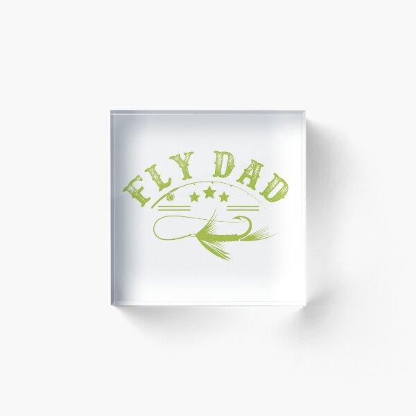 Fishing Dad Shirt Acrylic Block