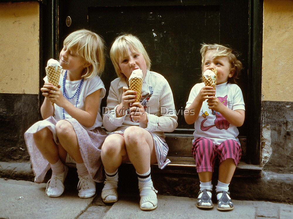 Ice Cream time, 1980s by David A. L. Davies