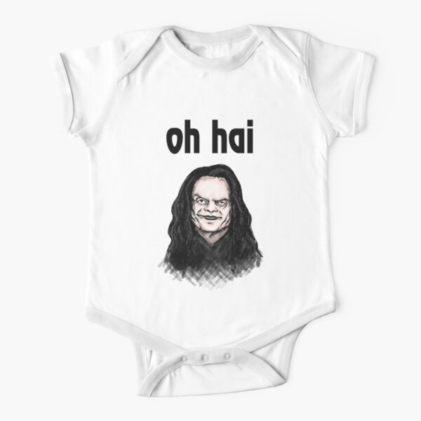 """Oh Hai""  Short Sleeve Baby One-Piece"