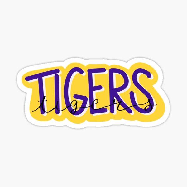 Tigers with script Sticker