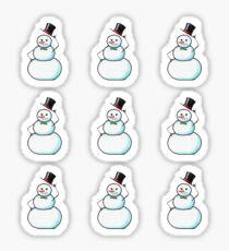 Snow Gentleman Mini  Sticker