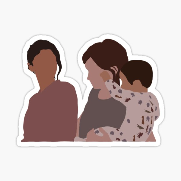 Ellie Dina and jj Sticker