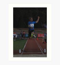 Adelaide Track Classic 2013 - Long Jump 5 Art Print