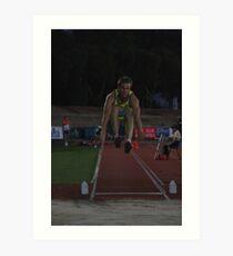 Adelaide Track Classic 2013 - Long Jump 7 Art Print