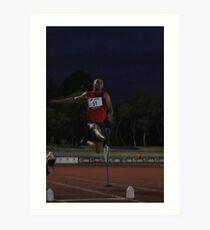 Adelaide Track Classic 2013 - Long Jump 14 Art Print
