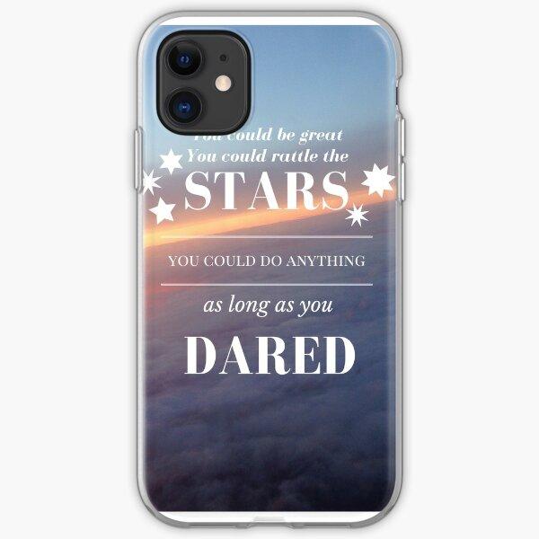 Rattle the Stars- Sarah J Maas, Throne of Glass- Purple Sky iPhone Soft Case