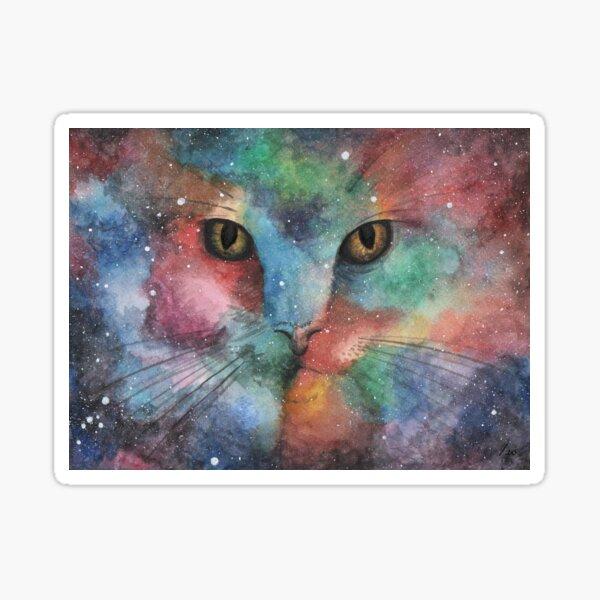 Gato multicolor Pegatina