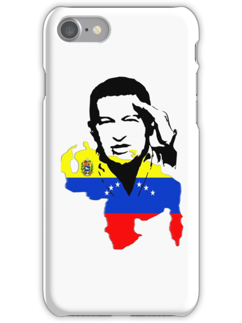 National flag of Venezuela with Chavez saluting by daalder